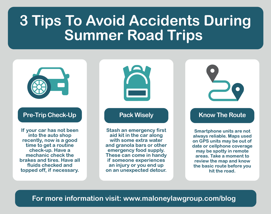 3 Tips to Avoid Accidents During Summer Road Trips